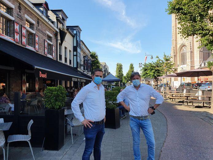 Ben van de Zegel van De Jachthoorn/Le Cirq en Paul Snoeys van de Gulden Coppe in Hoogstraten.