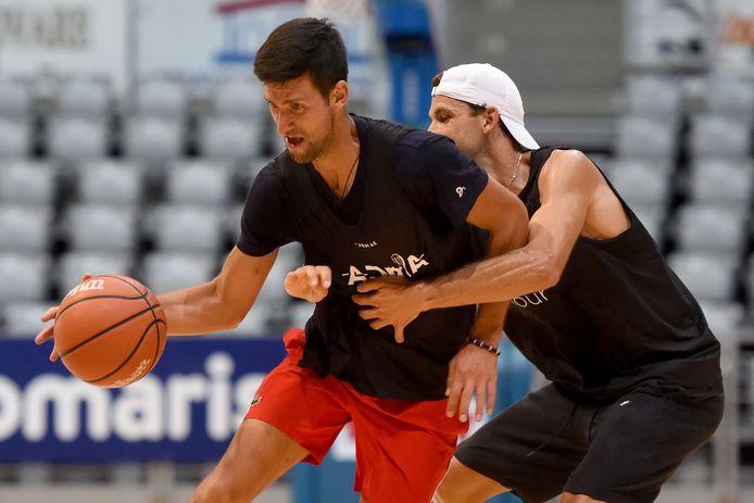 Novak Djokovic en Grigor Dimitrov
