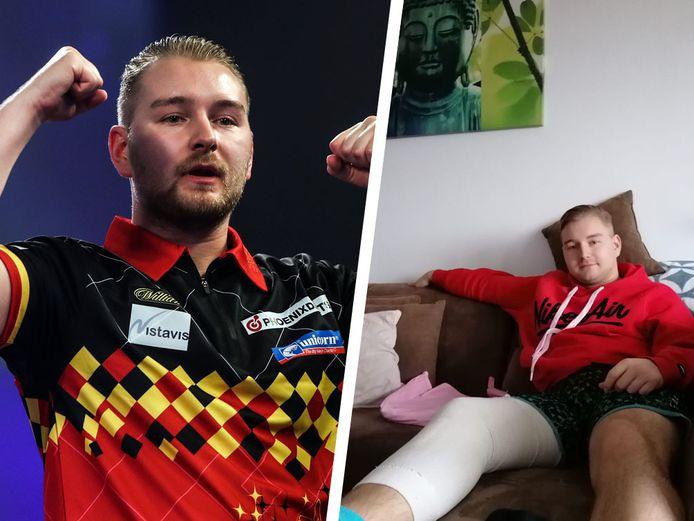 Dimitri Van den Bergh herstelt van een kruisbandoperatie.
