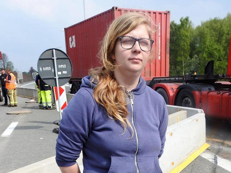 Vrachtwagenchauffeur Nakita Verwichte.