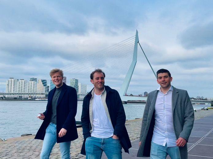 Jasper Zielhuis (l), Martijn Groenendijk en Tim Karreman.