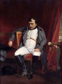 Fontainebleau 1814. Het eerste aftreden van Napoleon, nadat de Geallieerden Parijs zijn binnengetrokken.