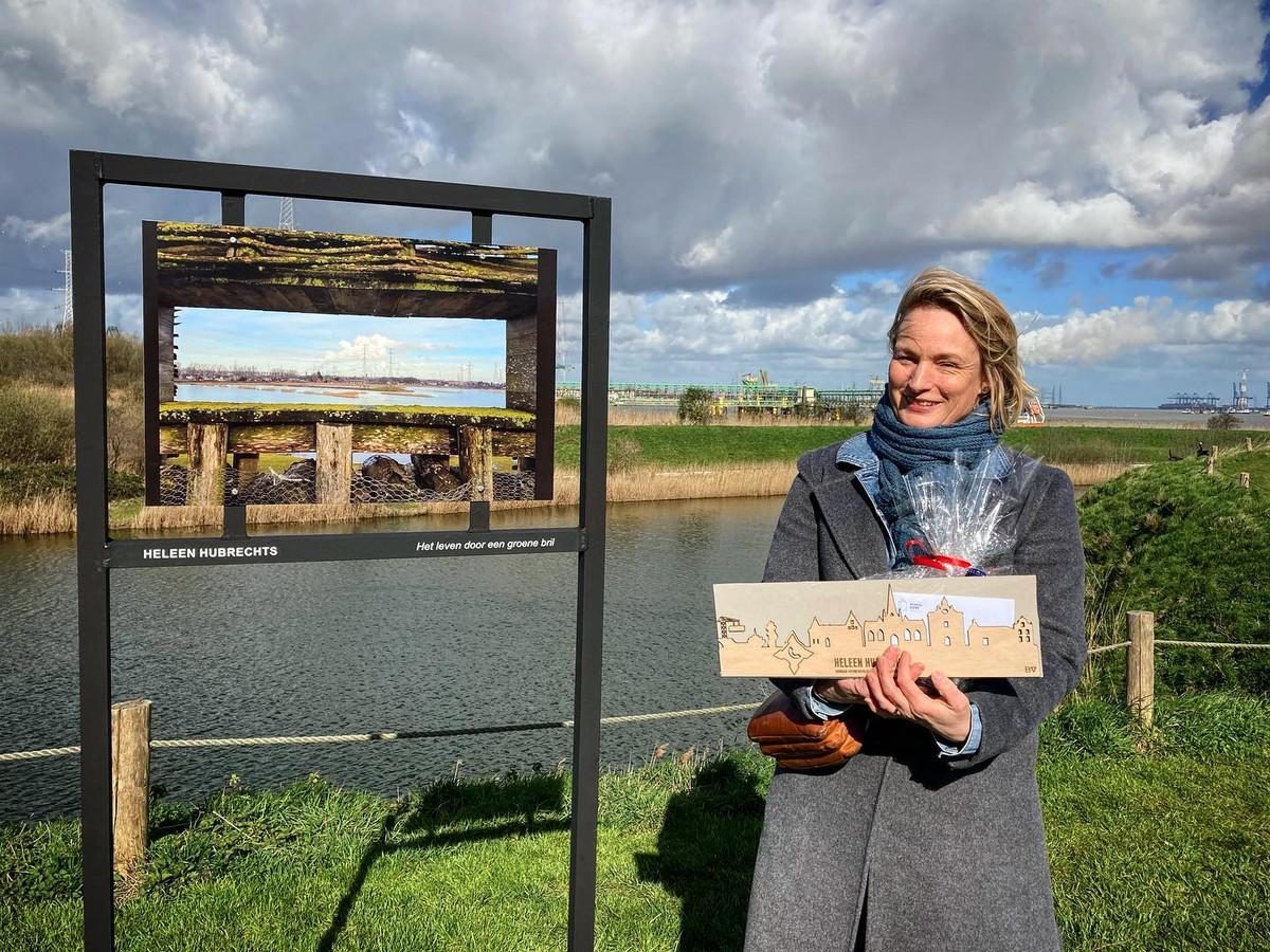 Heleen Hubrechts met de foto 'Het leven door een groene bril'.
