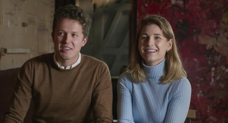 Thibaut en Charlotte in 'Huis Gemaakt' Beeld VTM