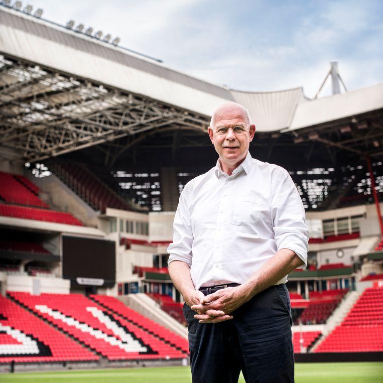 Toon Gerbrands, in het stadion van PSV. Beeld Linelle Deunk