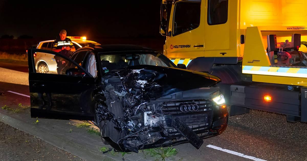 Flinke schade aan Audi en BMW bij ongeluk in Herpen.