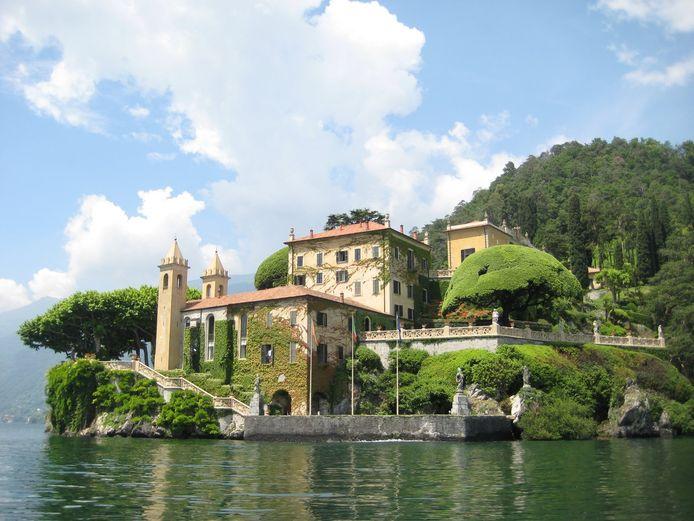De bekende Villa del Balbianello aan het Comomeer. De locatie werd onder meer gebruikt in de Star Wars-films.