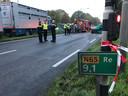 De afhandeling van het ongeluk op de N65 bij Helvoirt.