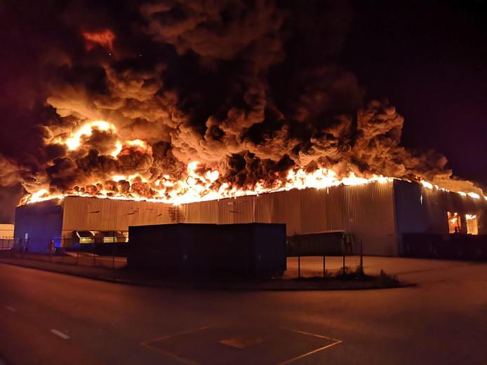 De vlammenzee in Staphorst was enorm.