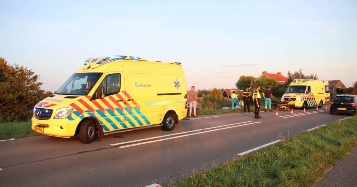 Motorrijder raakt gewond bij botsing in Zoutelande.
