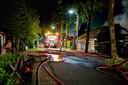 De brandweer was met groot materieel uitgerukt.