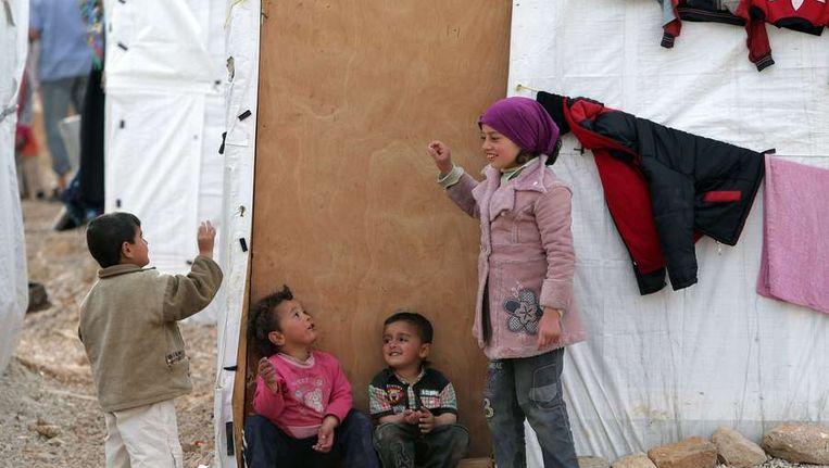 Het aantal Syrische vluchtelingen dat in Libanon staat geregistreerd, is donderdag de grens van 1 miljoen gepasseerd. Beeld afp