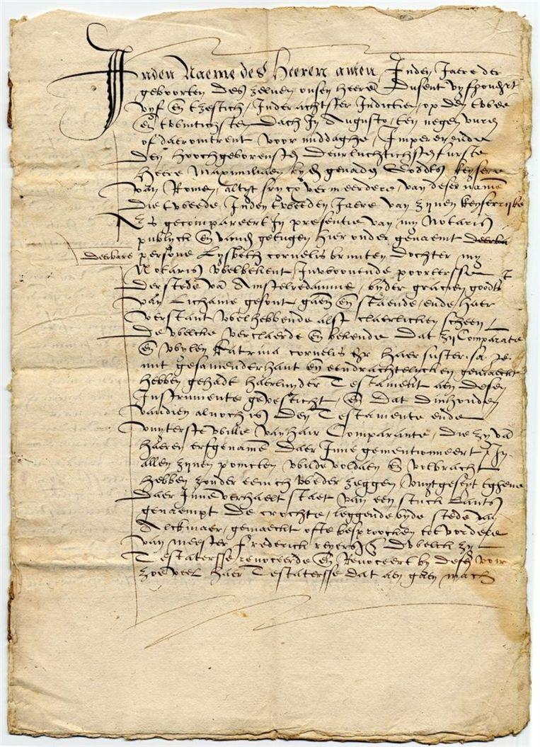 Testament van Lijsbeth Cornelis Bruntendr.  Beeld