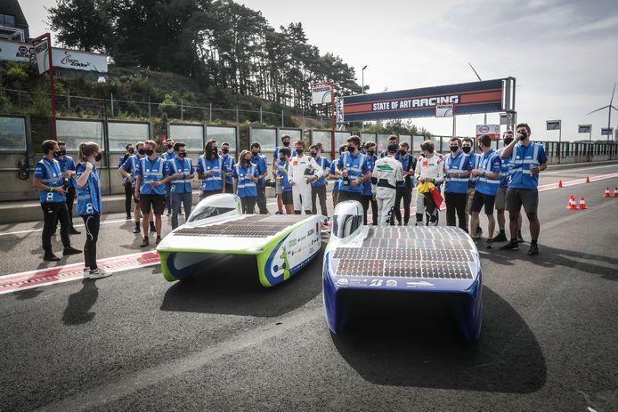 Agoria Solar Team wint de race.