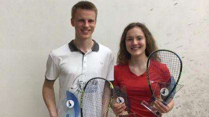 Jonge squashers Marie-Amelie en Dries veroveren medailles op toernooi in Luxemburg