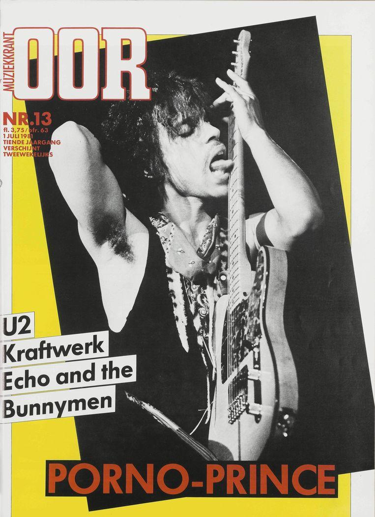 De cover van Oor met Prince in 1981. Beeld