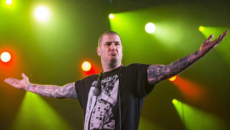 Phil Anselmo, frontman van Down. Beeld anp