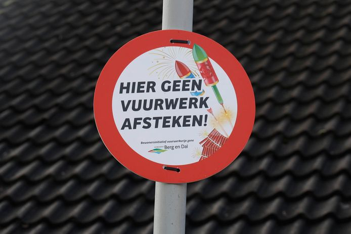 Een vuurwerkvrije straat in Goesbeek.