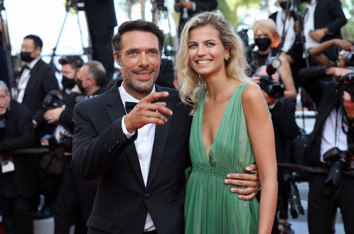 Nicolas Bedos et sa compagne, Pauline Desmonts, au Festival de Cannes.