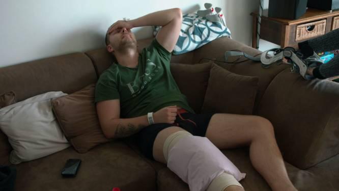 """De eerste beelden van Dimitri Van den Bergh na zijn operatie: """"Ik hoop echt dat je niet gaat afzien met mij"""""""