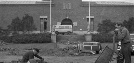 Wie verfraaide het plantsoen voor het Van Abbemuseum in 1961