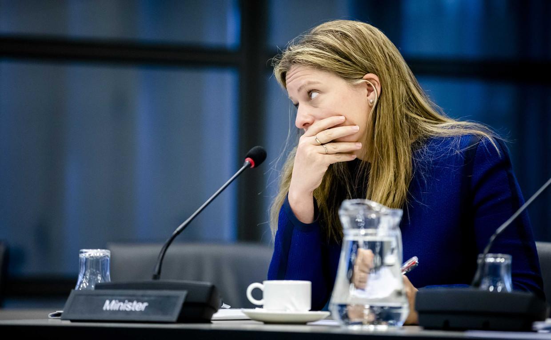 Minister Carola Schouten van Landbouw, Natuur en Voedselkwaliteit (ChristenUnie) tijdens het algemeen overleg in de Tweede Kamer over de stikstofproblematiek.