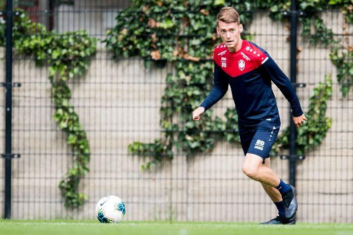 Sander Coopman op training bij Antwerp.