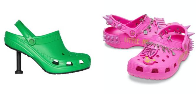 Nu bestaan er ook Crocs met spikes of stiletto's