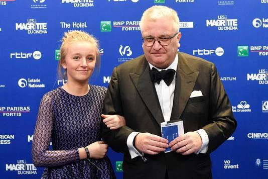 Le prince Laurent et sa fille Louise