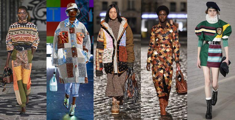 vanaf links: Etro, Dolce & Gabbana, Chloe, Chloe, Philosophy Beeld Imaxtree