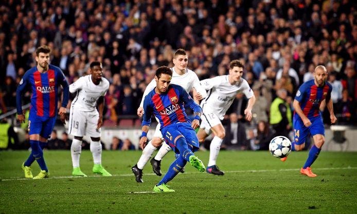 2017: Neymar zet Barça op 5-1 tegen PSG, dat ook de 6-1 nog om de oren krijgt en eruit vliegt. De Braziliaan speelt nu voor de Franse club, had tegen zijn oude ploeg kunnen spelen, maar is geblesseerd.