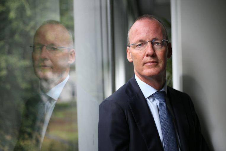 'Er moet beleid komen om de vraag naar woningen minder uitbundig te maken,' aldus Klaas Knot, president van De Nederlandsche Bank. Beeld Marieke Bijster/DNB