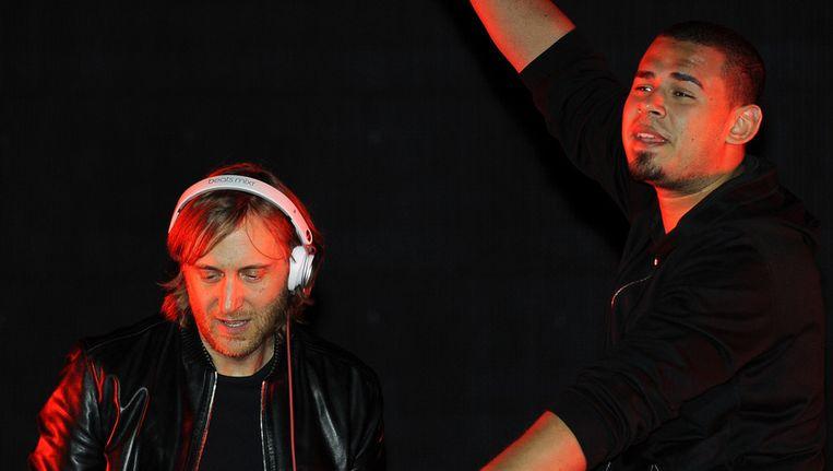 David Guetta en AfroJack (r.) Beeld getty