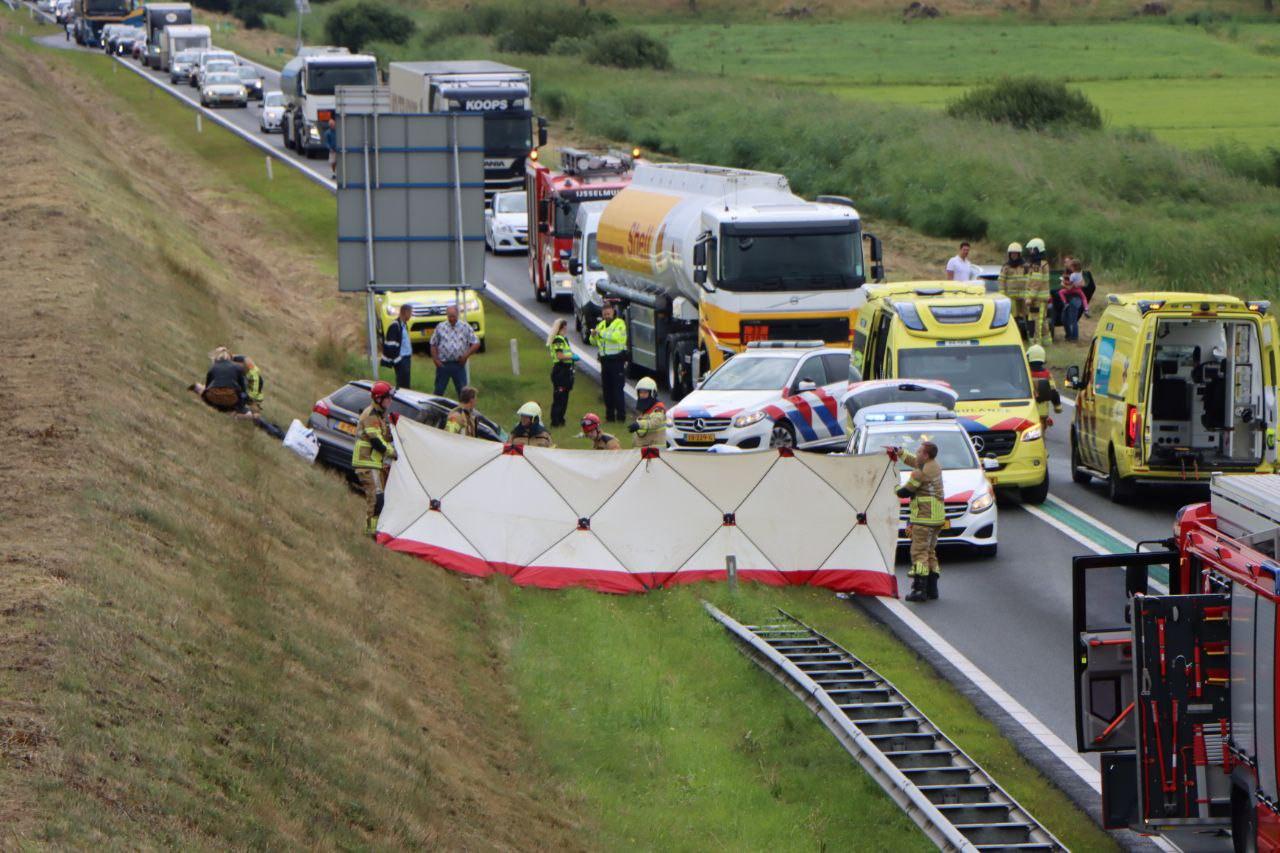 Ernstig ongeluk op de N50 bij Kampen