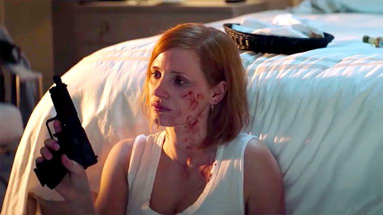Jessica Chastain in 'Ava'. Beeld RV