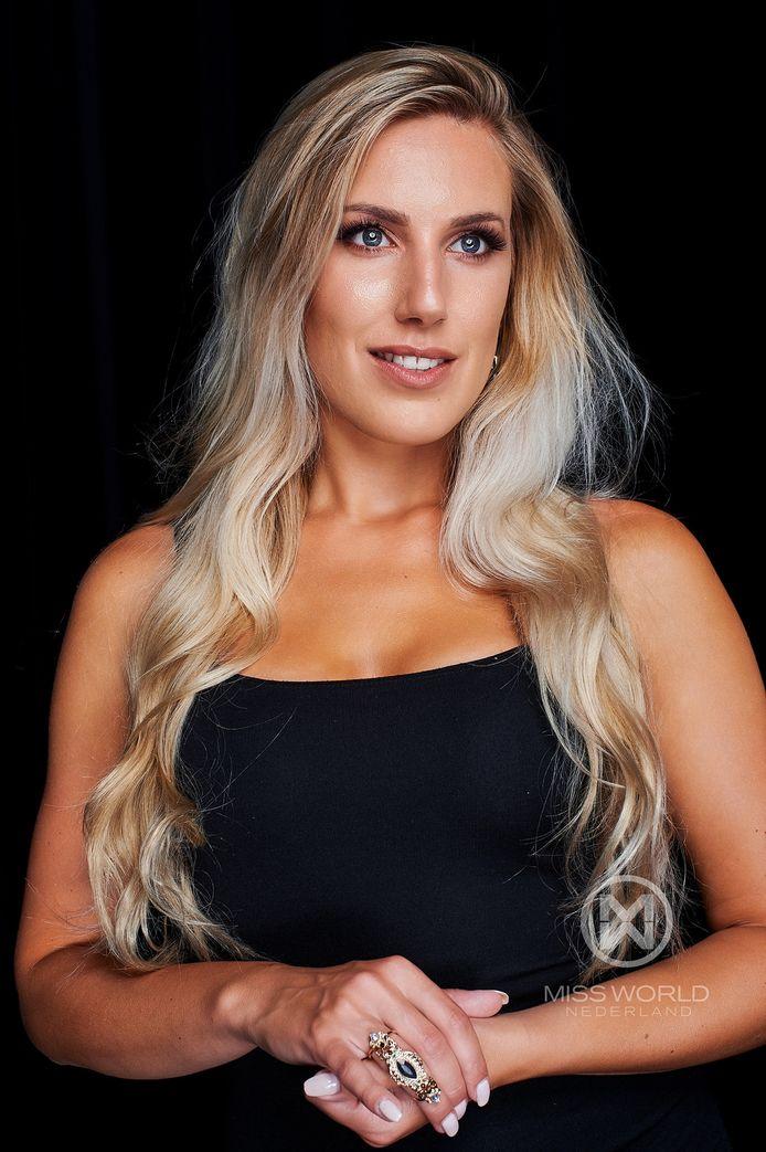 De Zwolse Patricia Korenromp, finalist van Miss World Nederland, zet zich in tegen huiselijk geweld.