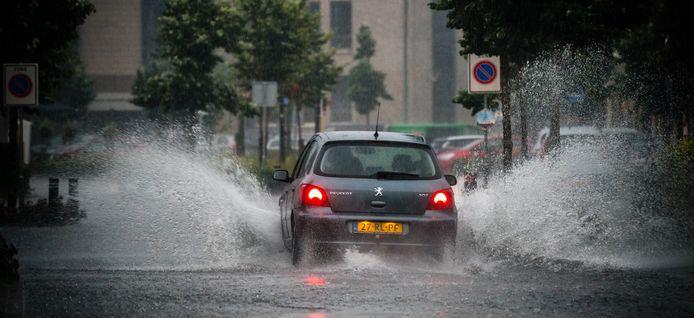 Hevige regenval, foto ter illustratie