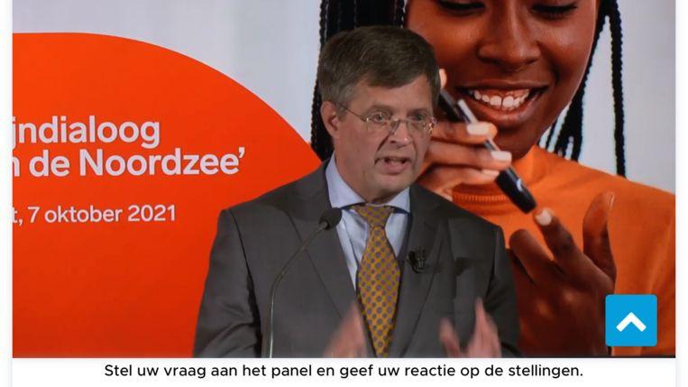 Balkenende in actie voor de farmaceutische industrie. Beeld