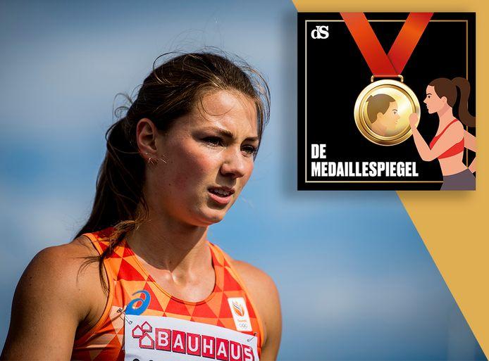 Emma Oosterwegel in De Medaillespiegel.