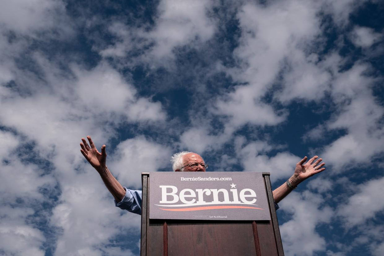 Als de mensen die nooit meer stemmen nu wel gaan stemmen, op hem, denkt Sanders niet alleen de Democratische voorverkiezingen te kunnen winnen, maar ook de strijd met Donald Trump. Beeld ERIN SCHAFF / The New York Times