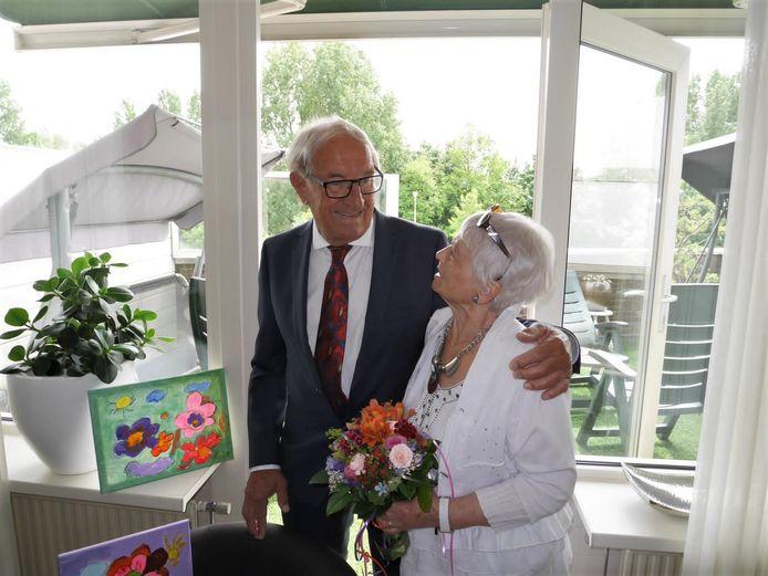 Nol Mastbergen met zijn vrouw Lucie.