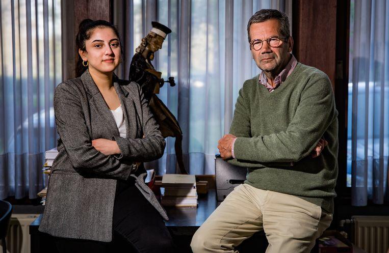Lode Vrancken en zijn assistente Aslan Bahar. Beeld Joel Hoylaerts / Photo News