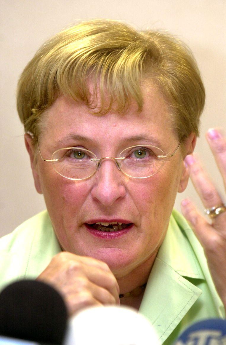 Magda Aelvoet in 2002. Beeld BELGA