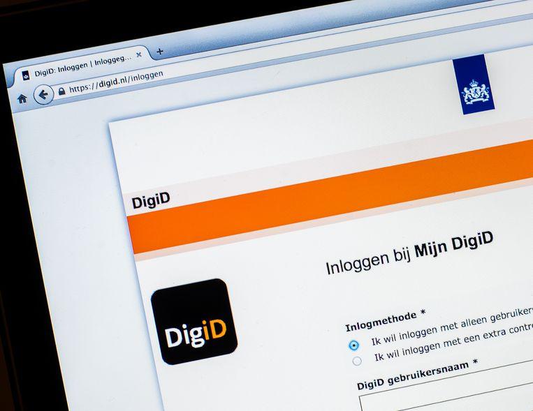 De website van DigiD.  Beeld ANP XTRA
