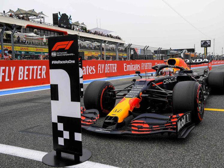 Verstappen pakt pole in Frankrijk, Hamilton P2 Bottas P3