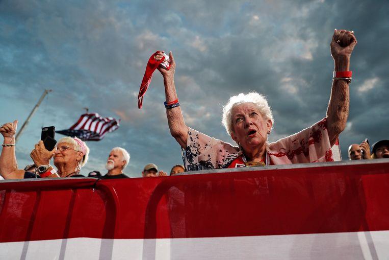 Verkiezingsrally in Jacksonville, Florida. Beeld REUTERS
