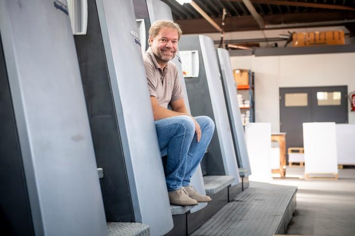 Gerrit Jan Kamerling in zijn bedrijf.