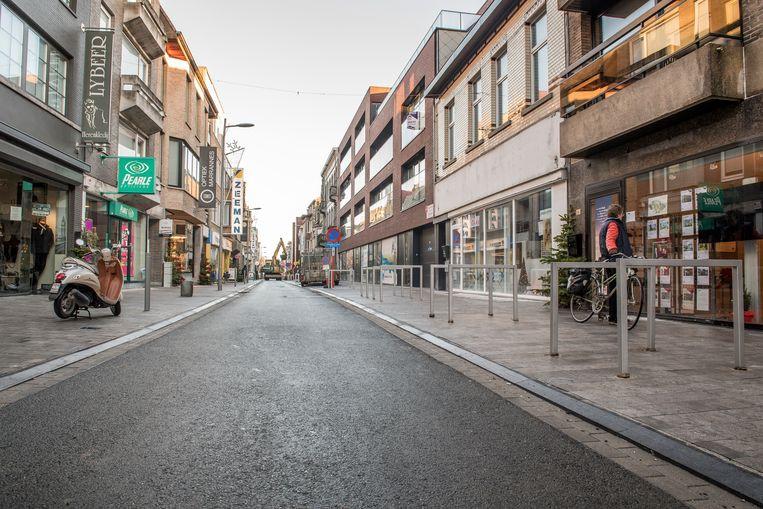 De Marktstraat in Izegem.