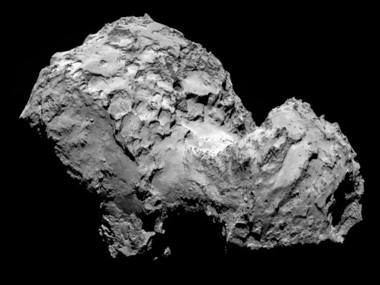 Komeet 67P/Churyumov-Gerasimenko. Beeld ESA
