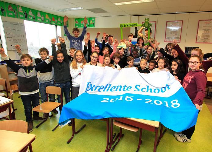 basisschool De Springplank in Etten-Leur verkozen tot excellente school. foto : Gerard van Offeren